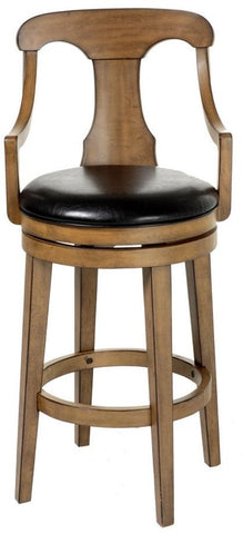 "Albany 30"" Wood Bar Stool w/ Swivel-seat"