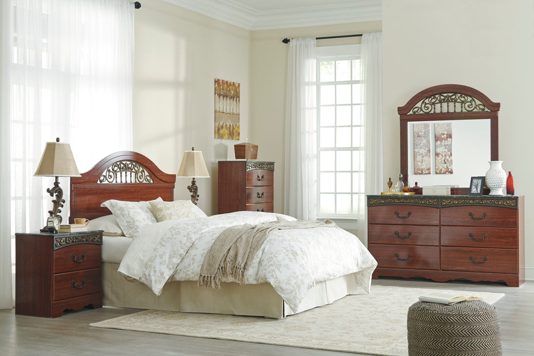 Fairbrooks Estate - Queen/Full Panel Headboard - Reddish Brown - DISCONTINUED