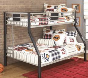 Dinsmore - Bunk Bed - Black/Grey