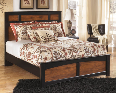 Aimwell Panel Bed - Dark Brown - Three Size Options