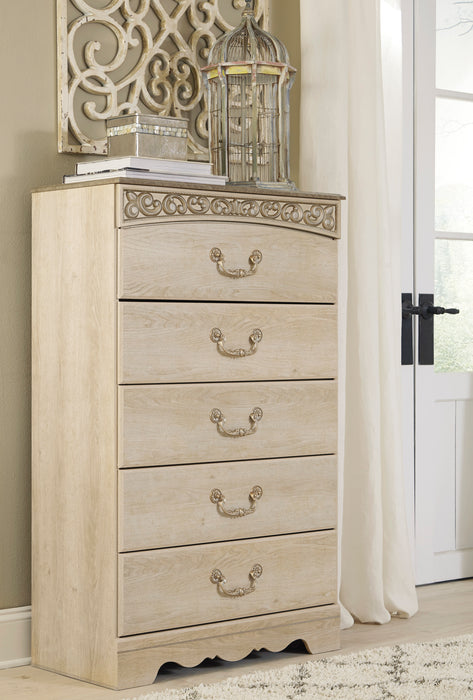 Catalina - Five Drawer Chest - Antique White
