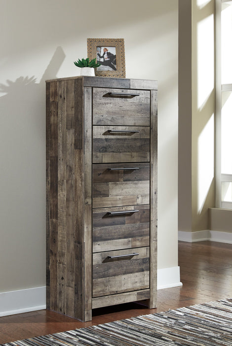 Derekson - Five Drawer Narrow Chest