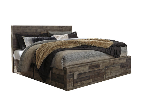 Derekson - Storage Bed - Multi Gray