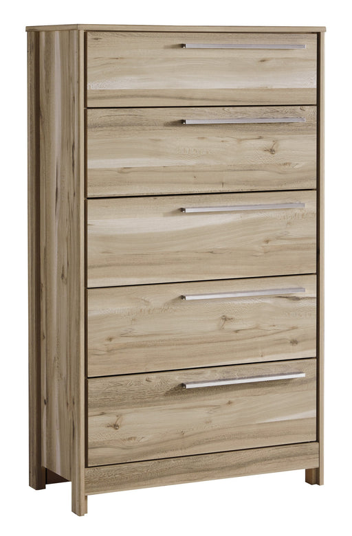 Kianni - Five Drawer Chest - Taupe