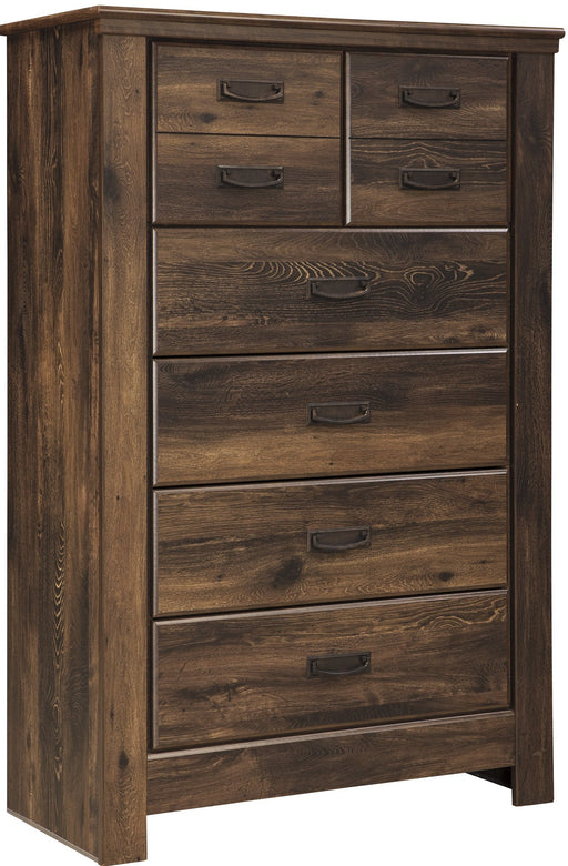 Quinden - Five Drawer Chest - Dark Brown