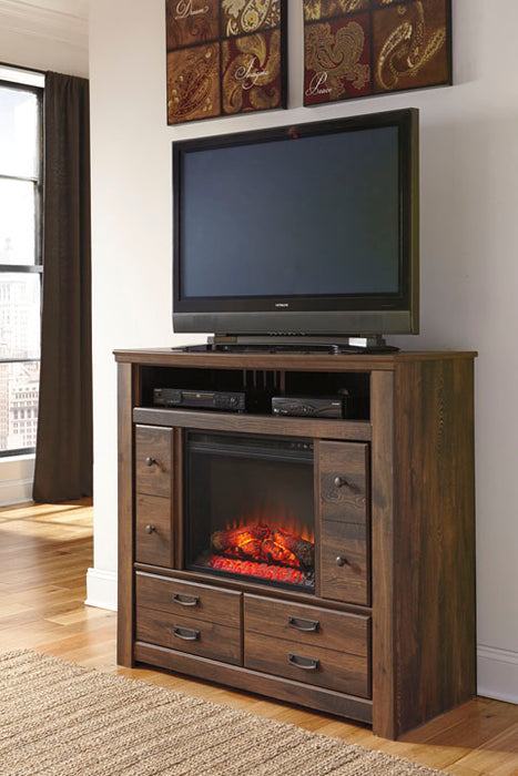 Quinden - Two Drawer Media Chest - Optional Fireplace