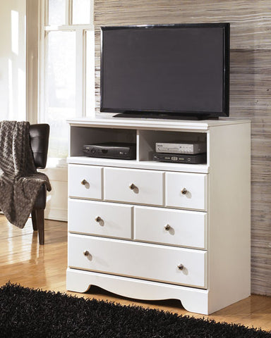 Weeki - Three Drawer Media Chest - White