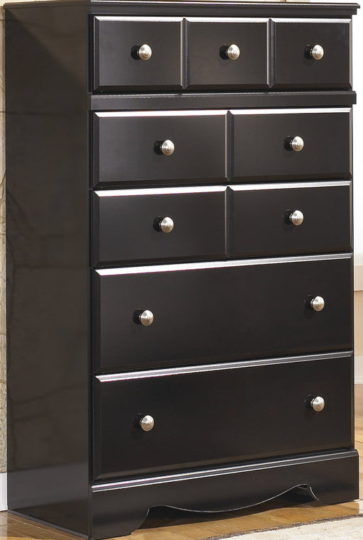 Shay - Five Drawer Chest - Almost Black