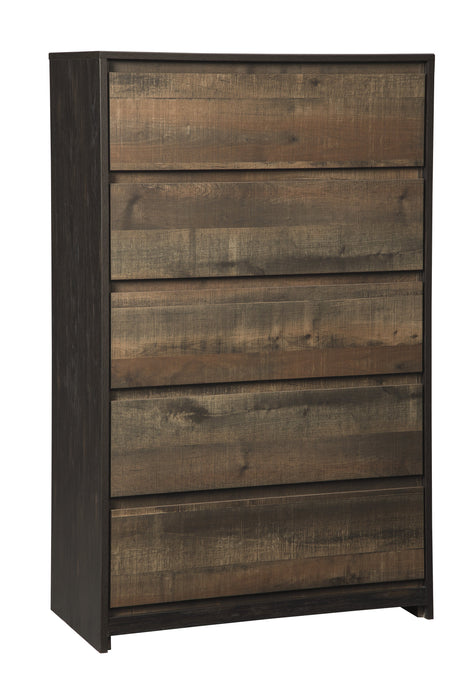 Windlore - Five Drawer Chest - Dark Brown