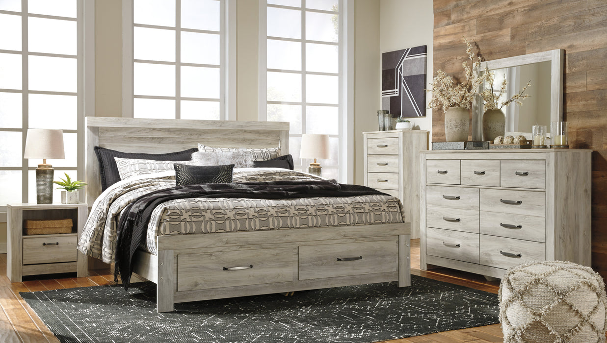 Bellaby - Storage Bed - Whitewash