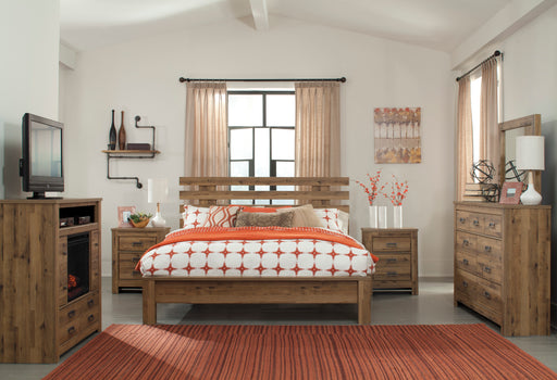 Cinrey Bedroom Set - Slat Panel Bed