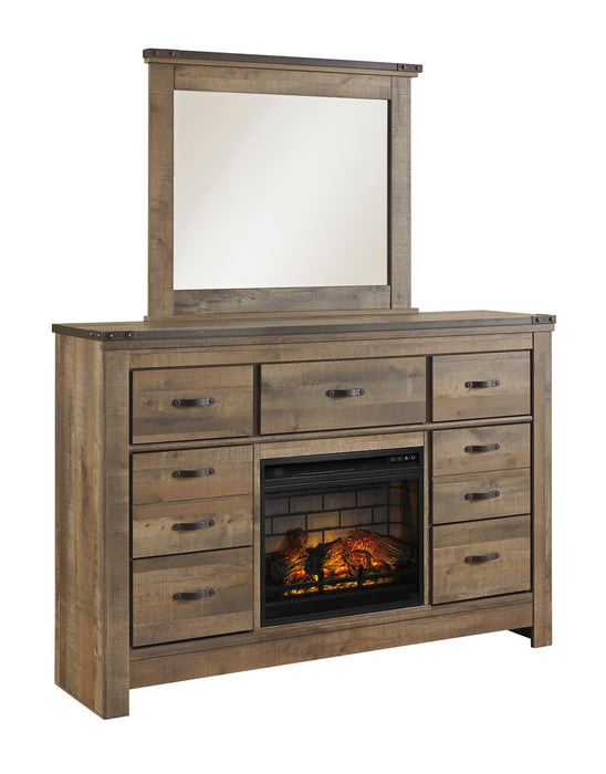 Trinell Dresser  - Optional Fireplace or Mirror