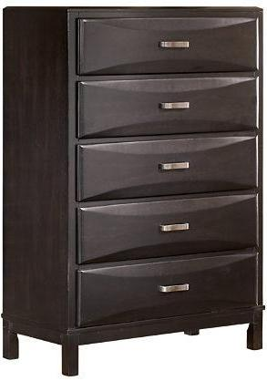 Kira - Five Drawer Chest - Almost Black