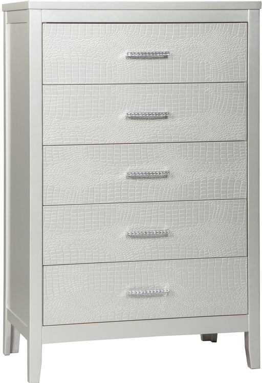 Olivet - Five Drawer Chest - Silver
