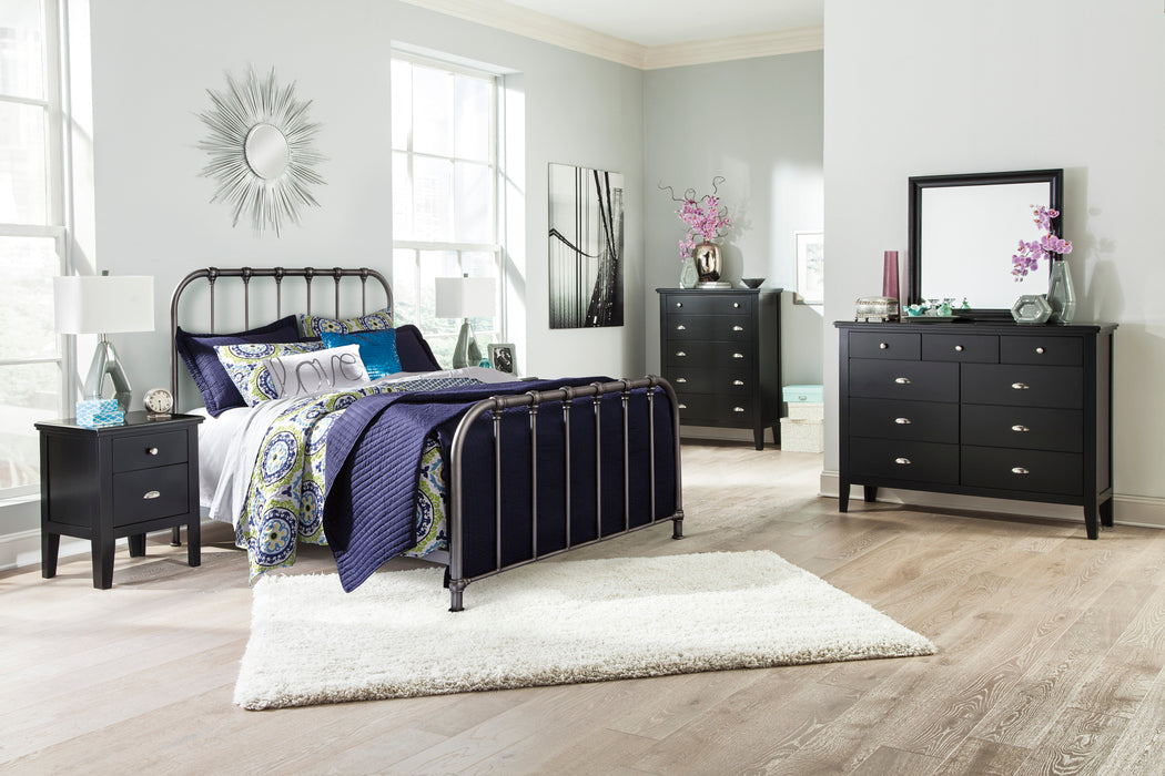 Nashburg Queen Headboard - Bronze Finish