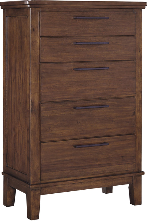 Ralene - Five Drawer Chest - Medium Brown