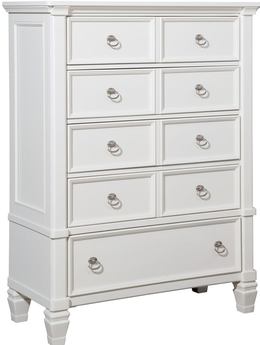 Prentice - Five Drawer Chest - White