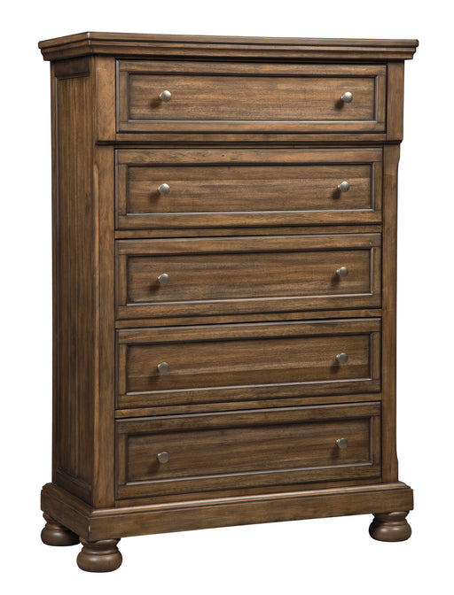 Flynnter - Five Drawer Chest - Medium Brown