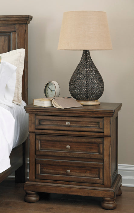 Flynnter Two Drawer Nightstand