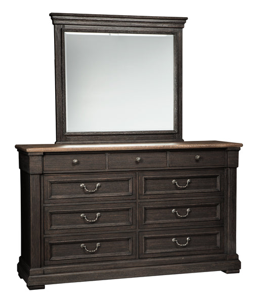 Tyler Creek - Dresser - Black/Brownish Gray