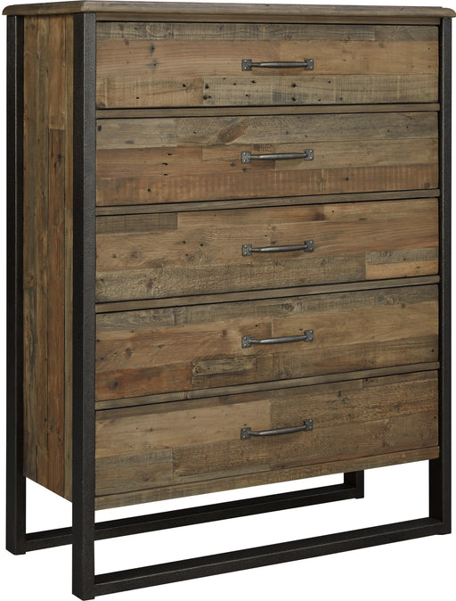 Sommerford - Five Drawer Chest - Brown