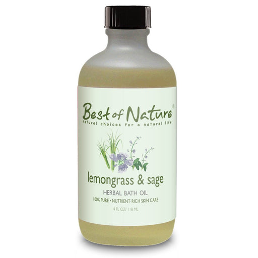 Lemongrass & Sage Bath Oil