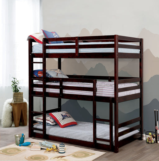 California V Three Stacker Bunk Bed - 3 Colors