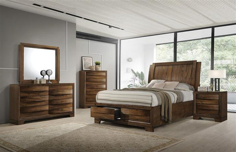 Hatfield - Complete Bed Set - Cognac Brown