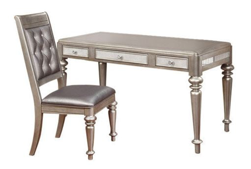 Writing Desk W/Optional Chair - Metallic Platinum
