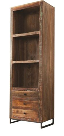 Handcrafted Three Tier Bookcase - Three Drawer - Reclaimed Wood