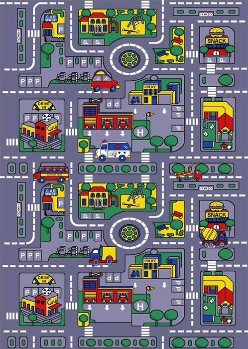 Persian Weavers KID'S City Map Rug