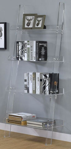 Clear Acrylic Ladder Bookcase