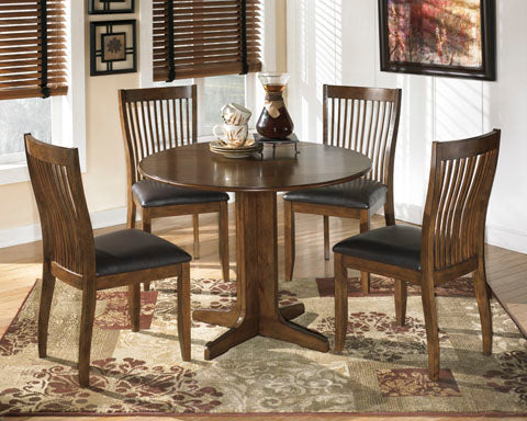 Stuman Round Drop Leaf Dining Set - Dining Height