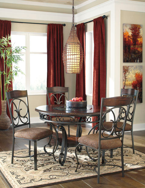 Glambrey Round Dining Set - Dining Height