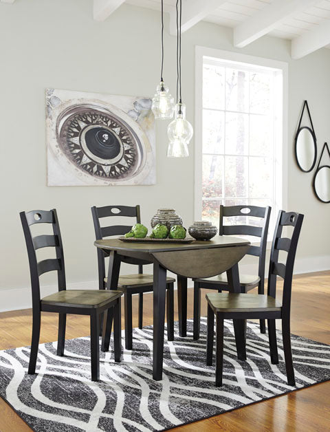 Froshburg Drop Leaf Dining Set - Dining Height