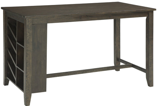 Rokane Rectangular Counter Table w/ Storage