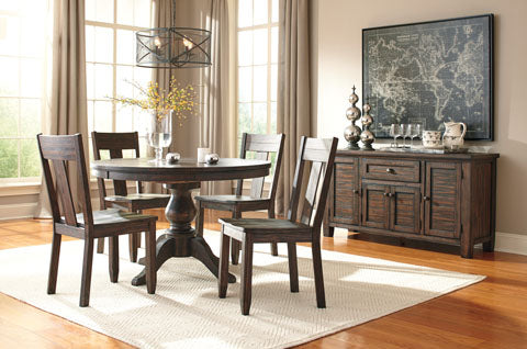 Trudell Round Dining Set - Dining Height