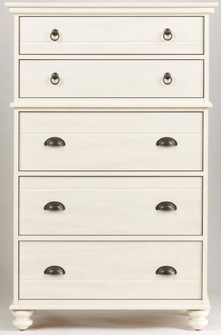 Echo Bay 5 Drawer Chest - Weathered White