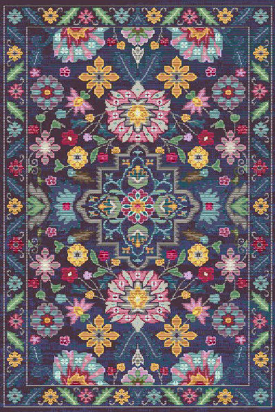 Persian Weavers Flowering Rug in 4 Colors