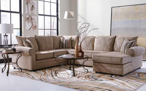 Fairhaven Sectional - Cream Herringbone
