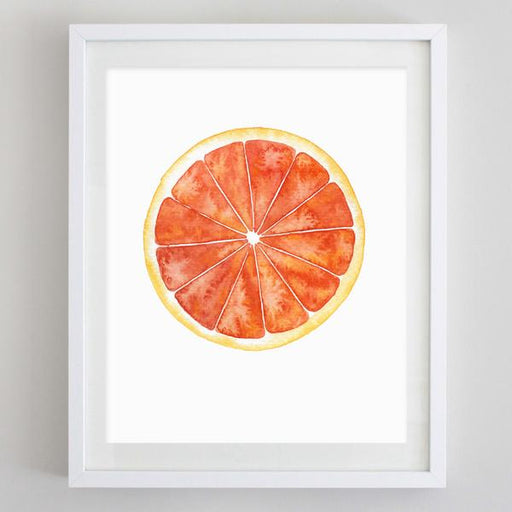 Grapefruit Watercolor Print by Carly Rae