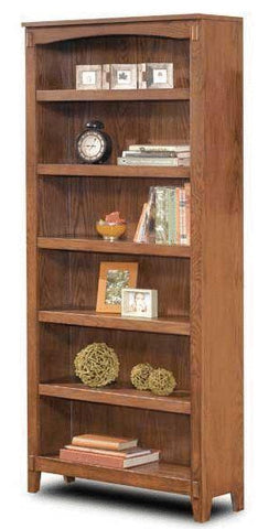 Cross Island Large Bookcase - Medium Brown