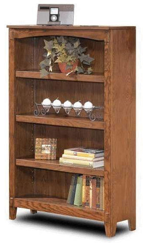 Cross Island Medium Bookcase - Medium Brown
