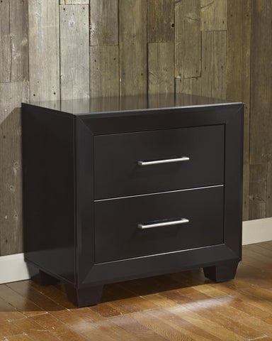 Hudson 2 Drawer Nightstand - Gloss Black