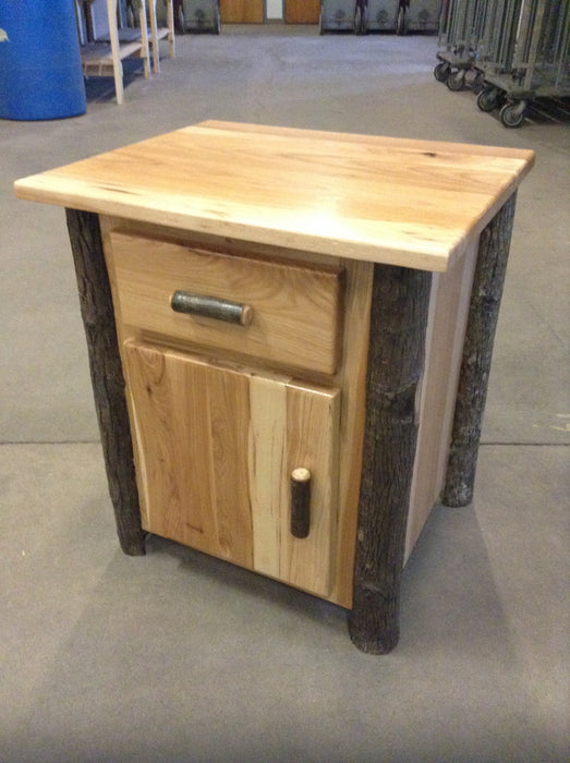 Hilltop Furniture Nightstand with Deer-Hickory