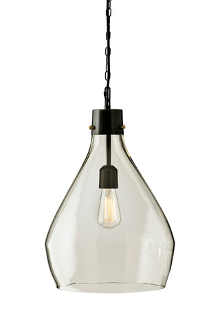 Avalbane Glass Pendant Light - Clear/Gray