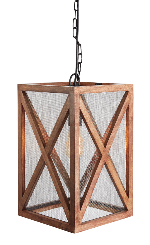 Jodene Small Wood Pendant Light