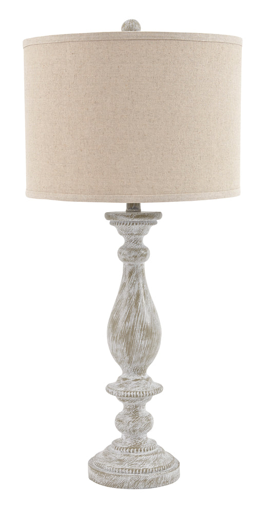 Bernadate - Whitewash - Poly Table Lamp (2/CN)