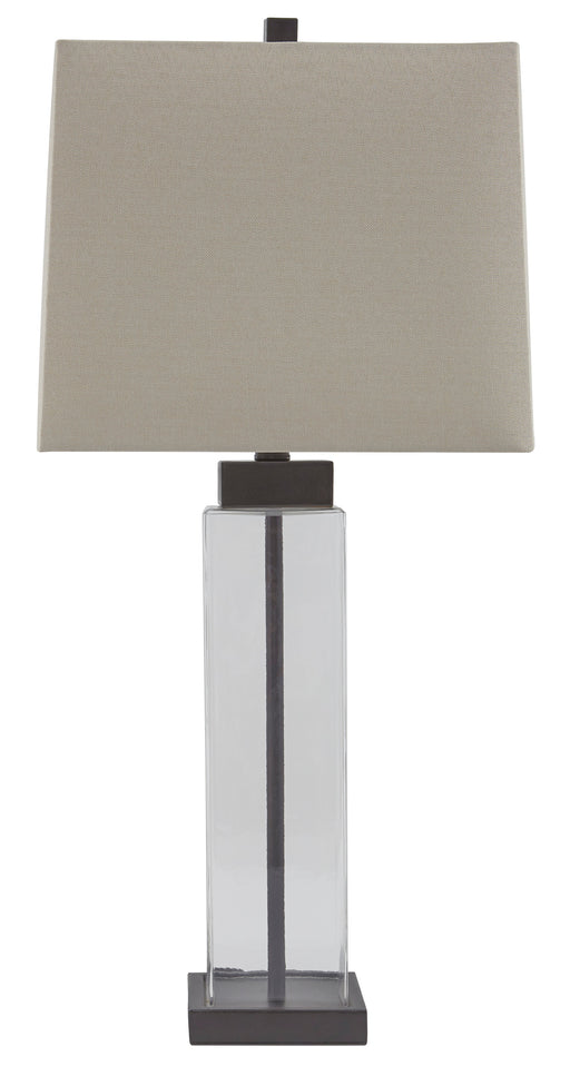 Alvaro - Clear/Bronze Finish - Glass Table Lamp