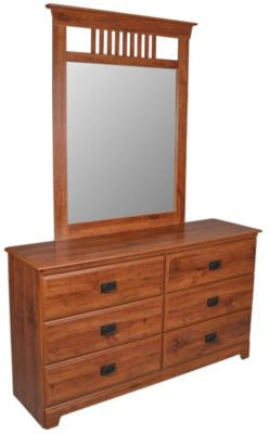 Ashland 6 Drawer Dresser & Mirror - Abbey Oak
